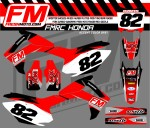 moto cross graphics for Hondas