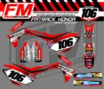 fm track crf 450 2013-2015 RED GREY ACCENT