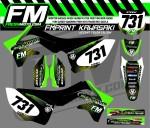 kawasaki motocross graphic